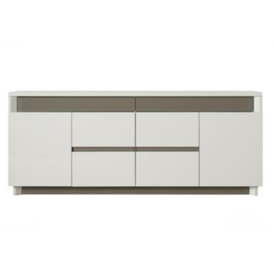 Buffet design laqué blanc gris ATHENA