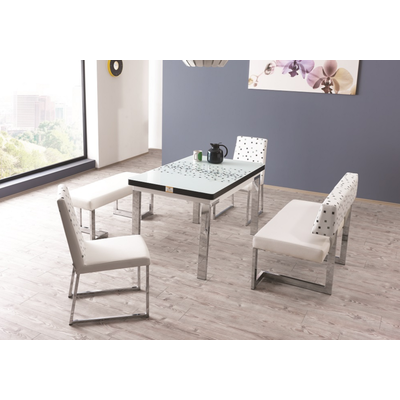 Coin repas extensible & chaises blanc REST