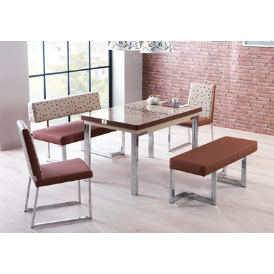 Coin repas extensible & chaises choco REST