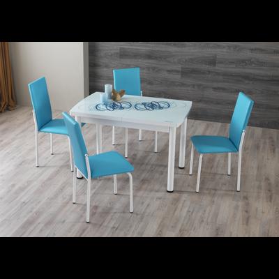 Table extensible & chaise bleu NEXT