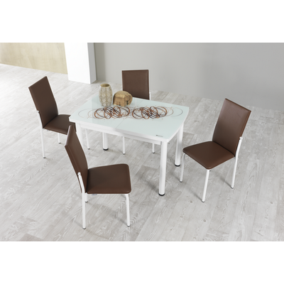 Table extensible & chaise choco NEXT