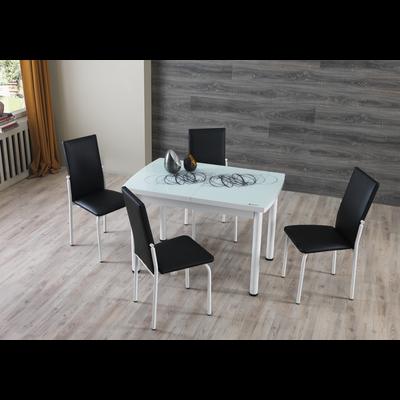 Table extensible & chaise noir NEXT