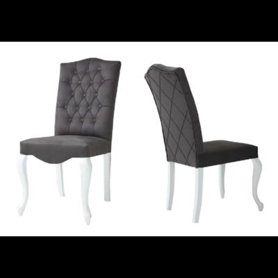 Chaise capitonnée gris NICE