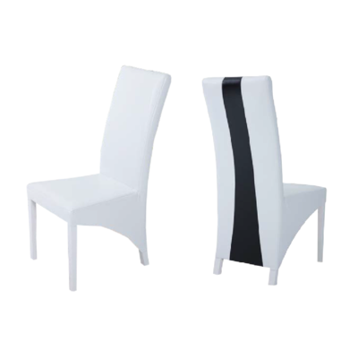 Lot 2 chaises simili blanc LYON