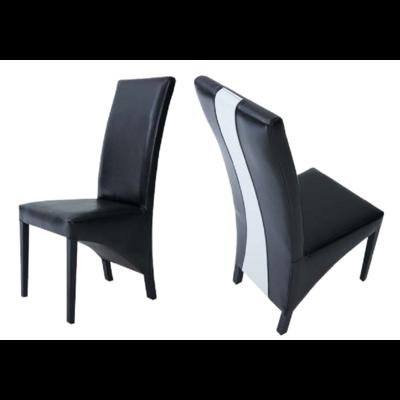 Lot 2 chaises simili noir LYON