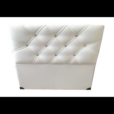 Tête de lit capitonné simili cuir blanc ECOLINE