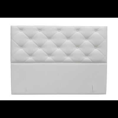 Tête de lit capitonné simili blanc KARYA