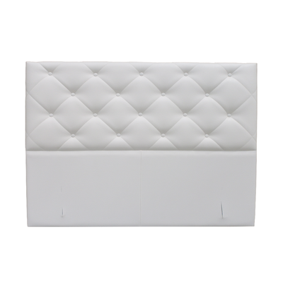 Tête de lit capitonné simili cuir blanc KARYA