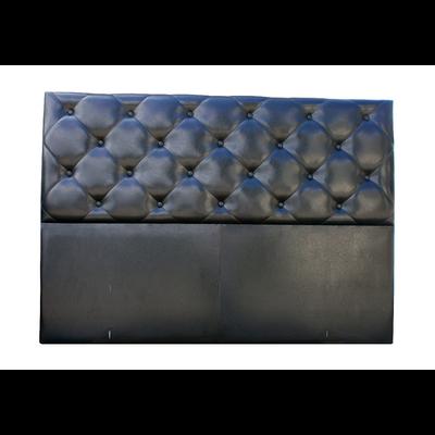 Tête de lit capitonné simili cuir noir KARYA