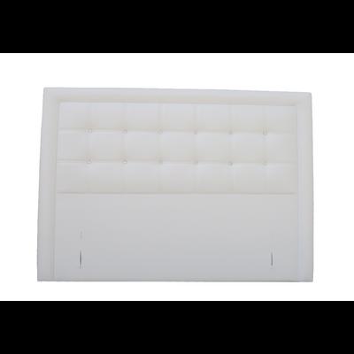 Tête de lit capitonné simili cuir blanc KYBELE