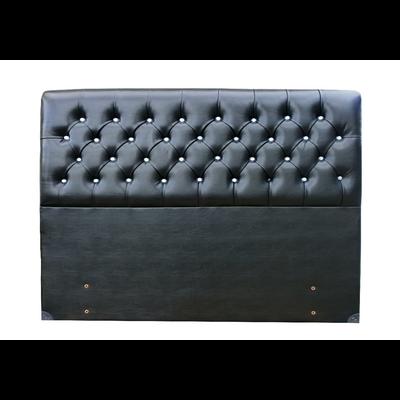Tête de lit capitonné simili cuir noir LUXE
