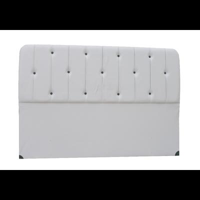 Tête de lit capitonné simili cuir blanc ROSA