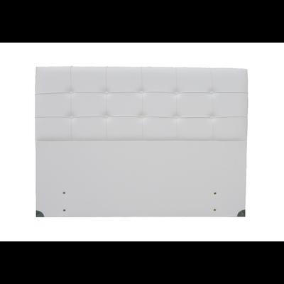 Tête de lit capitonné simili cuir blanc SMART