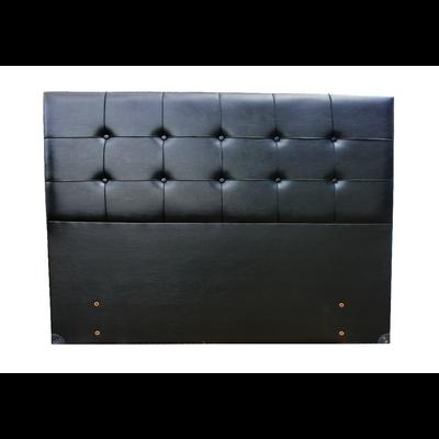 Tête de lit capitonné simili cuir noir SMART