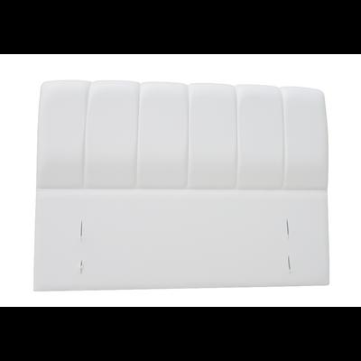 Tête de lit capitonné simili cuir blanc MAYA