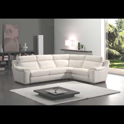 Canapé angle relax cuir blanc ARGO