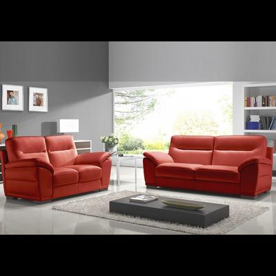Canapé cuir design rouge CALINO