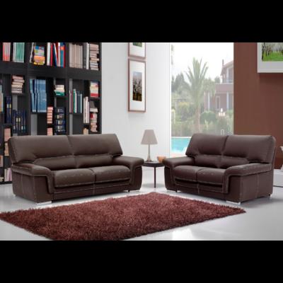 Canapé cuir design choco ANNA