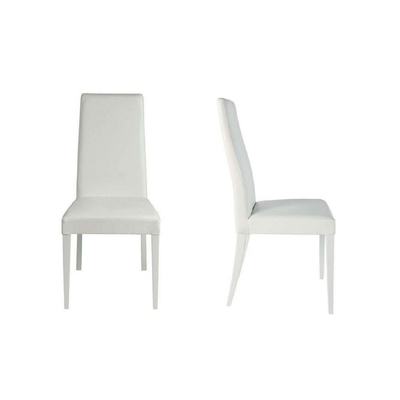 Lot 2 chaises simili blanc DRAGON