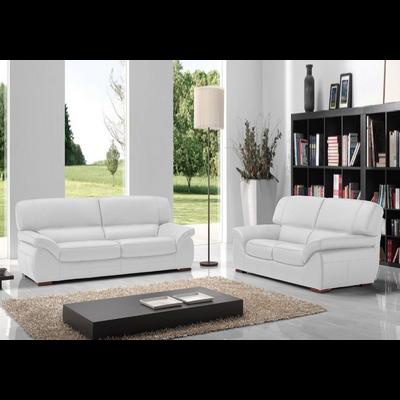 Canapé cuir blanc ADELA