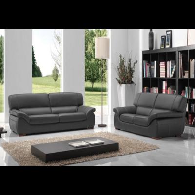 Canapé cuir gris ADELA