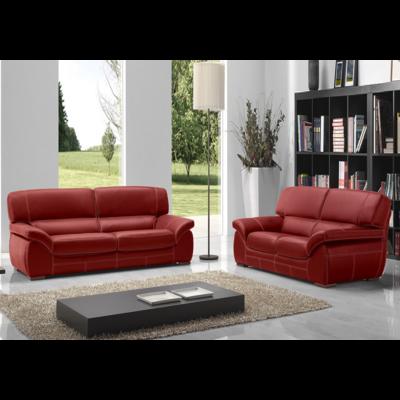Canapé cuir rouge ADELA