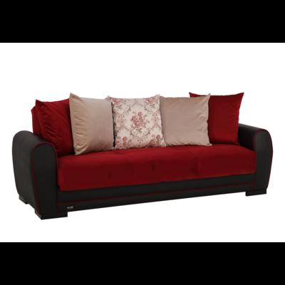 Canapé lit-coffre bordeaux FLEX