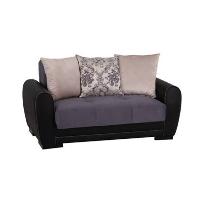 Canapé lit-coffre 2 places gris FLEX