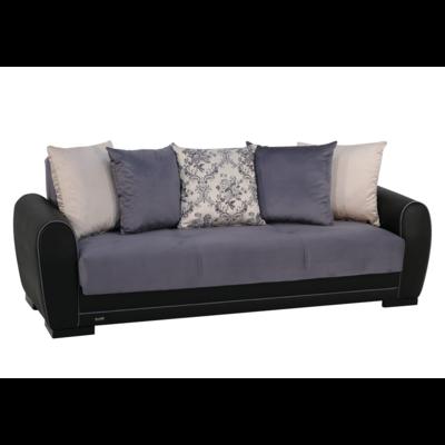 Canapé lit-coffre gris FLEX
