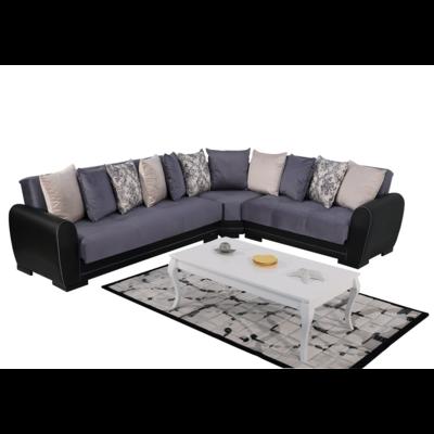 Canapé angle modulable gris FLEX