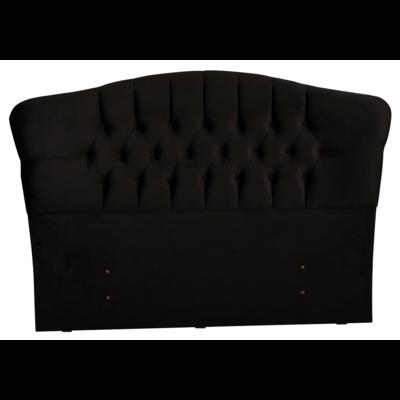 Tête de lit capitonnée velours noir ROYAL