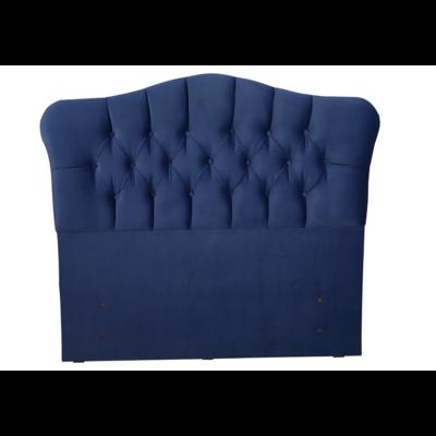 Tête de lit capitonnée velours bleu ROYAL