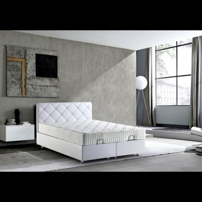 Lit coffre & tête de lit blanc JASMINE