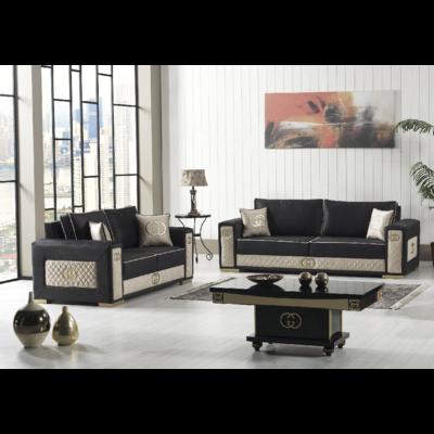 Canapé tissu noir GUGI