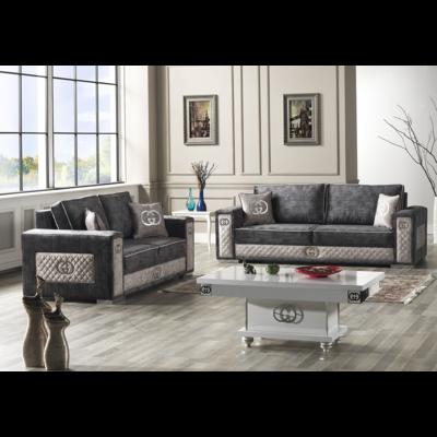 Canapé tissu gris GUGI