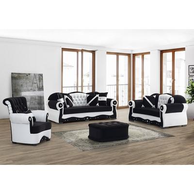 Vitrine meuble tv blanc versace mur tv living design - Canape versace ...