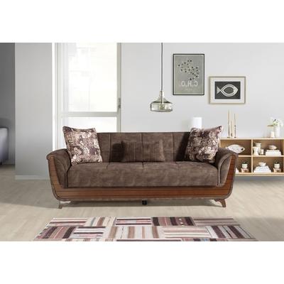 Canapé lit-coffre marron TUNIS