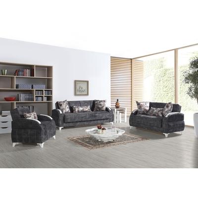 Canapé lit coffre gris diva