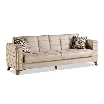 Canapé lit coffre beige MONTANA