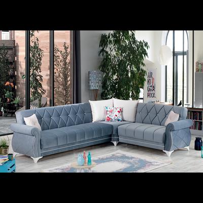 Canapé angle lit coffre gris OPERA