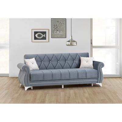 Canapé lit coffre gris OPERA