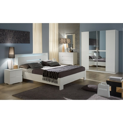 Chambre complète laqué blanc NIAGARA