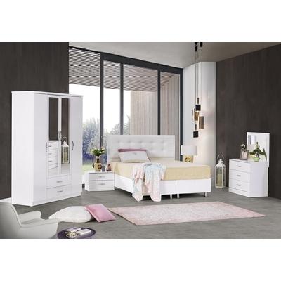 Chambre a coucher lit coffre blanc PARIS