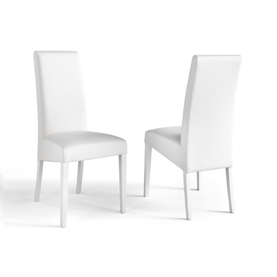 Lot 2 chaises simili blanc ADRIA