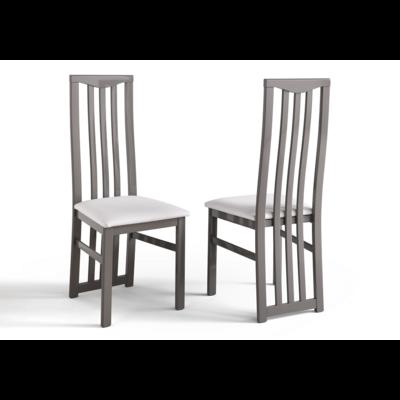 Lot 2 chaises laquées gris CX