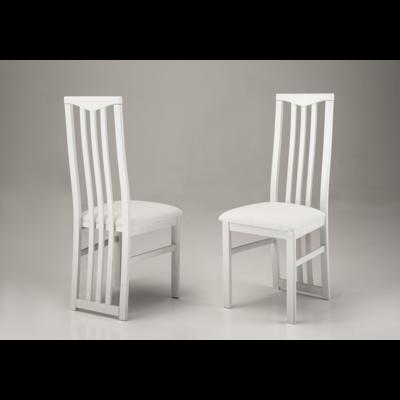 Lot 2 chaises laquées blanc CX
