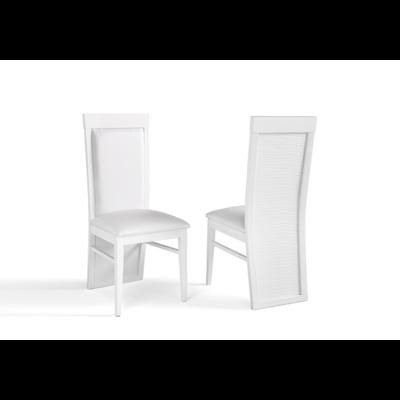 Chaise laqué blanc VENEZIA