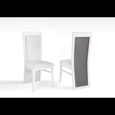 Lot 2 chaises laquées gris VENEZIA