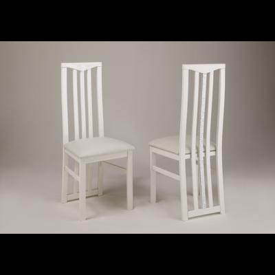 Lot 2 chaises laquées blanc CROMO