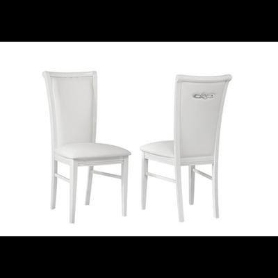 Lot 2 chaises laqué blanc ATHENA